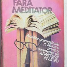 Meditatii fara meditator - Analize gramaticale A. D. Burca