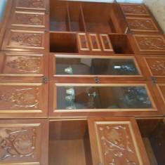 Biblioteca sufragerie, clasica, lemn