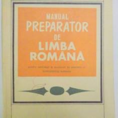 MANUAL PREPARATOR DE LIMBA ROMANA PENTRU CANDIDATII LA CONCURSUL DE ADMITERE IN INVATAMANTUL SUPERIOR de GH.N. DRAGOMIRESCU , 1969