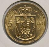 5 LEI 1930 HEATON . UNC . PARTIAL MARGINE DE GARDA . PIESA 1 ., Alama