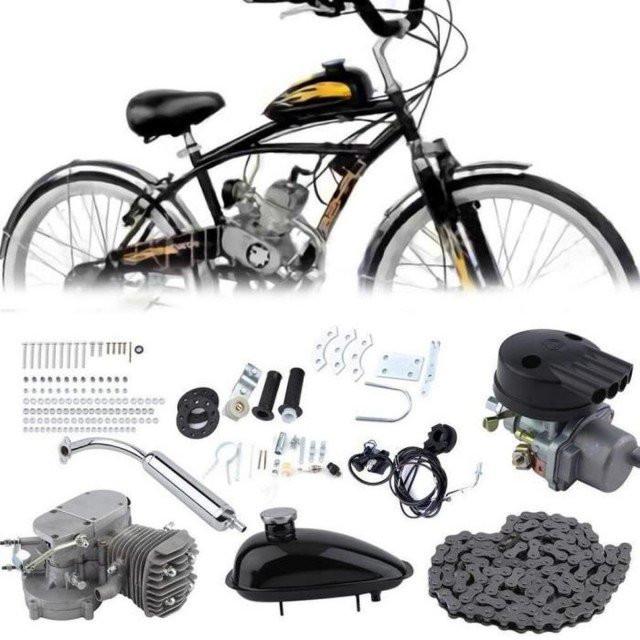 Kit motor bicicleta 80 cc 2 TIMPI (GRI)