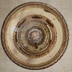CERAMICA VECHE DE HOREZU - PATINA ORIGINALA - URME DE UZURA, UTILIZARE CASNICA
