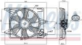Ventilator radiator DACIA LOGAN, LOGAN EXPRESS, LOGAN MCV, SANDERO; RENAULT LOGAN I 1.4-1.6LPG dupa 2004, Nissens