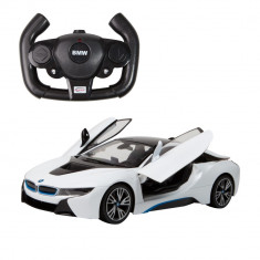 Masina cu telecomanda BMW i8 Rastar, 1:14, Alb