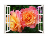 Cumpara ieftin Sticker decorativ, Fereastra 3D, Trandafiri, 85 cm, 338STK