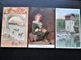 Lot de 3 Carti Postale vechi, USA / America - 1910, 1913, 1915