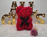 Cumpara ieftin Ursulet de trandafiri 25cm Rosu