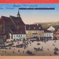 BRASOV - PIATA LIBERTATII - EDITATA INAINTE DE 1918, MODIFICATA DUPA -
