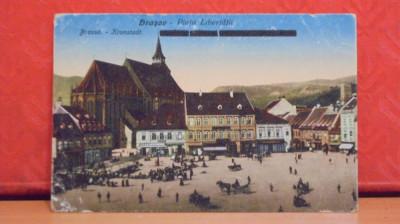 BRASOV - PIATA LIBERTATII - EDITATA INAINTE DE 1918, MODIFICATA DUPA - foto