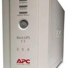 UPS APC Backup CS 350 Tower, White, Acumulator Original, 2 Ani Garantie