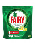 Tablete detergent pentru masina de spalat vase capsule Fairy Original All in One Lemon, 84 bucati