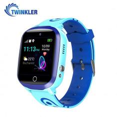 Ceas Smartwatch Pentru Copii Twinkler TKY-Q15 cu Functie Telefon, Localizare GPS, Istoric traseu, Apel de Monitorizare, Camera, Lanterna, SOS, Joc Mat