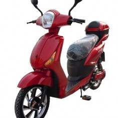Bicicleta electrica, tip scuter, fara carnet si inmatriculare ZT-09-AL LI-ION ROSU