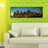 Cumpara ieftin Tablou decorativ cu ceas Clockity, 248CTY1613, Multicolor