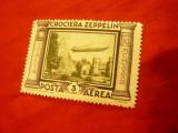 Timbru 3Lire Italia 1933 - Zepelin , sarniera