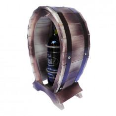 Suport lemn pentru vin nuanta mahon