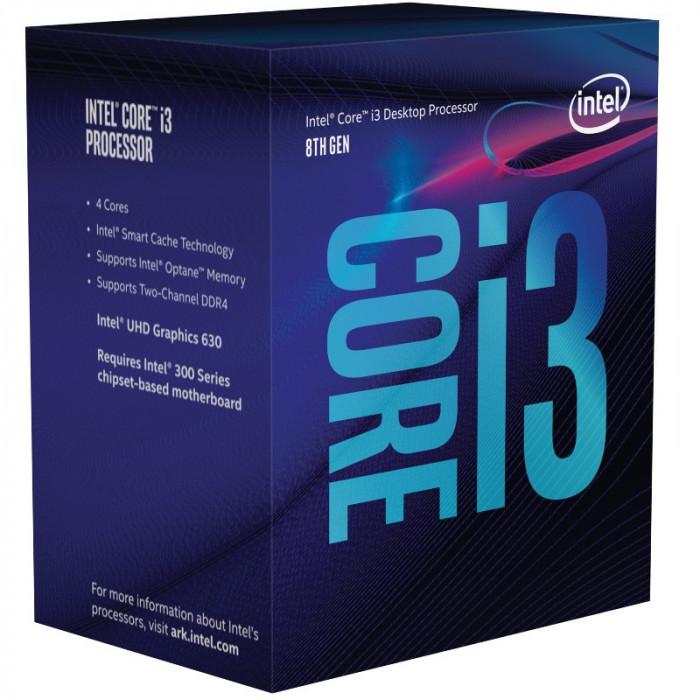 Procesor Intel Coffee Lake, Core i3 8100 3.6GHz box Socket 1151 V2 Garantie S/N