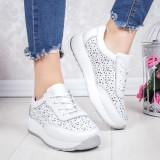Pantofi sport dama Piele albi Salira -rl