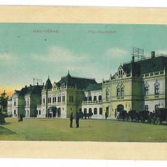 4381 - ORADEA, Railway Station, Romania - old postcard - used - 1911, Circulata, Printata