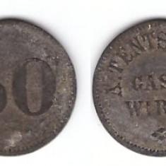 Germania - Jeton vechi A.Tentschert - Gast Wirth 50pF
