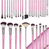 Set 31 pensule machiaj profesionale Fraulein38 Pink Candy + Borseta Cadou