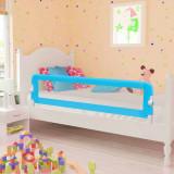 Balustradă de pat protecție copii, 2 buc, albastru, 150 x 42 cm, vidaXL