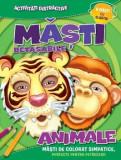Masti detasabile. Animale (8 masti cu elastic)/***