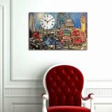 Cumpara ieftin Tablou decorativ cu ceas Clockity, 248CTY1638, Multicolor