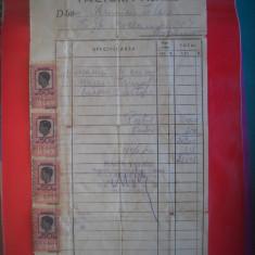 HOPCT DOCUMENT VECHI  NR 282 FACTURA MAGAZIN ACTICARIE -M VELICU BUCURESTI 1942