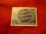 Serie Danemarca 1949 - 75 Ani UPU , val 40 ore, Nestampilat