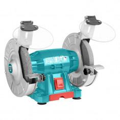 Polizor de banc Total, 150 W, 150 mm, 2950 rpm, suport reglabil, baza aluminiu