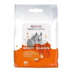 Servetele umede pentru caini si pisici Oropharma Body Clean, 20 buc