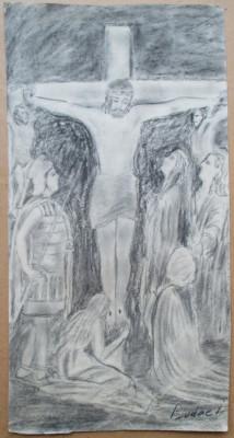 Rastignirea lui Isus - semnat  Budae I. foto