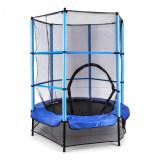Cumpara ieftin KLARFIT Rocketkid, 140 cm trambulină, plasă internă de securitate, albastră