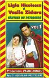 Caseta Ligia Nicolescu Și Vasile Zidaru –Vol. 1 Cântece De Petrecere,originala