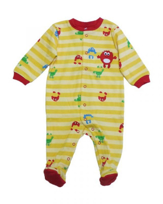 Salopeta / Pijama bebe cu dungi si desene Z120 foto