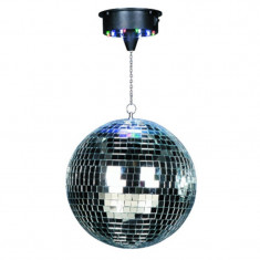 Glob disco cu motor, 30 cm, 18 Led-uri RGB