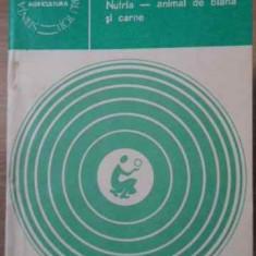 NUTRIA - ANIMAL DE BLANA SI CARNE - I. PETRESCU
