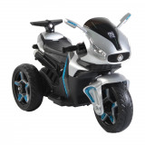 Motocicleta electrica cu roti EVA Shadow Leather Silver, Moni