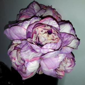 Buchet flori artificiale - Ranunculus 5 fire roz mov pal , înălțime 27  cm