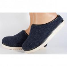 Papuci de casa bleumarini din lana (cod 153031)
