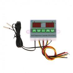 Controler temperatura dublu + senzori + termostat digital ,220v,nou