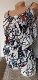 Cumpara ieftin Salopeta scurta in bretele cu model floral pentru dama cod 585