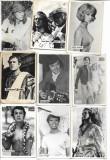 Fotografie lot 41 poze actori celebri cantareti romani straini anii 1960