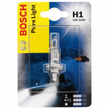 Bec auto cu halogen pentru far Bosch H1 Pure Light, 12V, 55W, 1 Bec