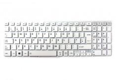Tastatura Laptop, Toshiba, Satellite P50-C-11P, fara rama, alba, UK foto