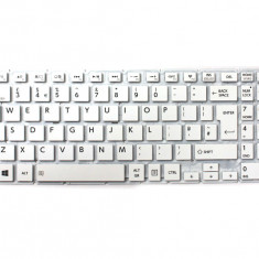 Tastatura Laptop, Toshiba, Satellite P50-C-11P, fara rama, alba, UK