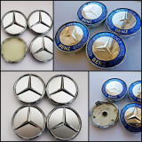 Capace jante aliaj Mercedes diametru 60 mm set 4 buc 2 modele