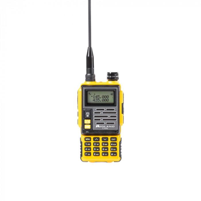Resigilat : Statie radio VHF/UHF portabila Midland CT690 dual band 136-174 si 400-
