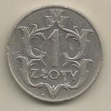 POLONIA 1 ZLOT ZLOTY 1929 [2] VF+ , livrare in cartonas, Europa, Nichel